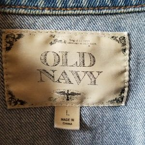 Old Navy Jackets & Coats - Distressed cropped jean jacket